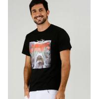 Camiseta Masculina Estampa Tubarão Manga Curta Universal