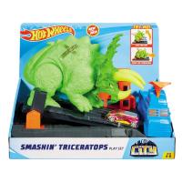 Brinquedo Pista Hot Wheels City: Ataque Triceratops GBF97 - Mattel