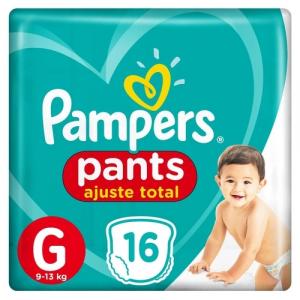 Fralda Pampers Pants Ajuste Total G 16 unidades