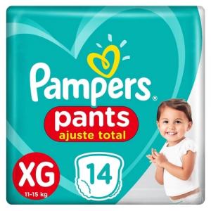 Fralda Pampers Pants Ajuste Total XG 14 unidades