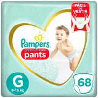 3 Pacotes de Fraldas Pampers Premium Care Pants Calça G - 204 Unidades