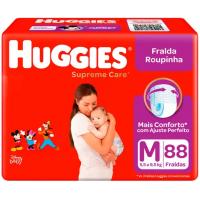3 Pacotes de Fraldas Huggies Calça Supreme Care M - 264 Unidades