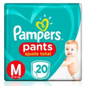 Fralda Pampers Pants Ajuste Total M - 20 Unidades