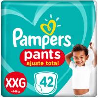 3 Pacotes Fralda Pampers Ajuste Total Pants Calça Tam XXG 14 a 25kg - 42 Unidades (Total 126 Unidades)