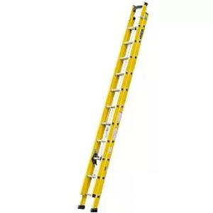 Escada Extensível Vazada Industrial 6 Metros em Fibra de Vidro - COGUMELO-EFV-600