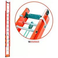 Escada Extensiva de Fibra de Vidro 18 Degraus 3,00 x 4,80 Metros EF3.0 FIBERMAX