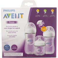 Mamadeiras Petala Philips Avent Transparentes Triplo Pack - 125ml 260ml e 330ml