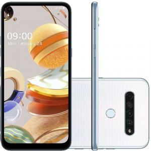 Smartphone LG K61 128GB 4G Wi -Fi Tela 6.5'' Dual Chip 4GB RAM Câmera Quádrupla + Selfie 16MP - Branco