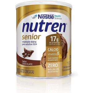 2 Unidades Suplemento Alimentar Nutren Senior Chocolate 370g