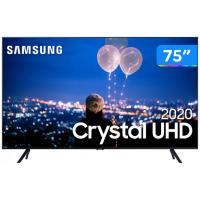 "Smart TV 75"" Samsung Crystal UHD 4K LED Wi-Fi Bluetooth HDR 3 HDMI 2 USB UN75TU8000GXZD"