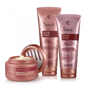 Kit Siàge Nutri Rosé Shampoo + Condicionador + Máscara -Eudora