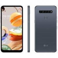 "Smartphone LG K61 128GB Titânio 4G Octa-Core - 4GB RAM 6,53"" Câm. Quádrupla + Selfie 16MP"