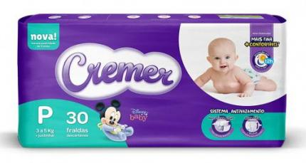 Fralda Cremer Disney, P, Jumbinho, pacote de 30