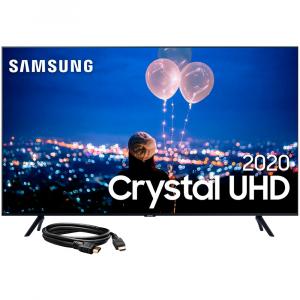 Samsung Smart TV 50'' Crystal UHD 50TU8000 4K + Cabo HDMI 1.4 High speed c/Ethernet (3D) 3m