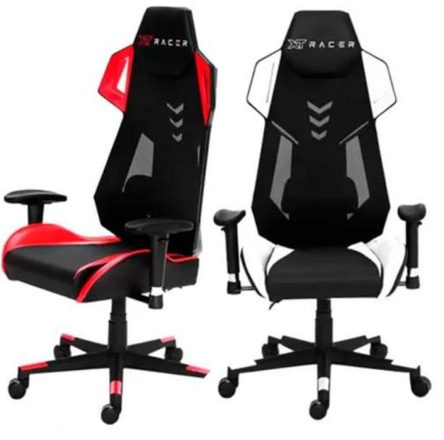 Cadeira Gamer XT Racer Reclinável Preta e Branca – Armor Series XTA150