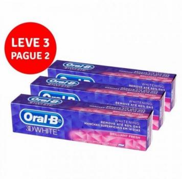 Creme Dental Oral-B 3D White – 70G Leve 3 Pague 2, Oral-B