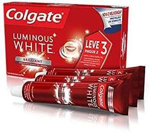 [Prime] Creme Dental Colgate Luminous White Brilliant Mint 70g   Leve 3 Pague 2
