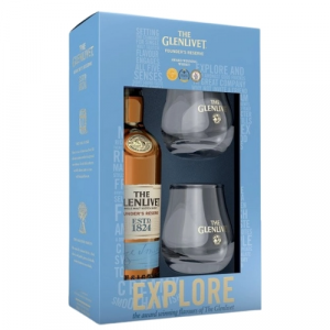Kit Whisky The Glenlivet Founder's 700ml c/ 2 Copos Exclusivos