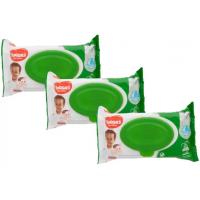 Kit Lenço Umedecido Huggies Max Clean - 6 Pacotes com 48 Unidades Cada