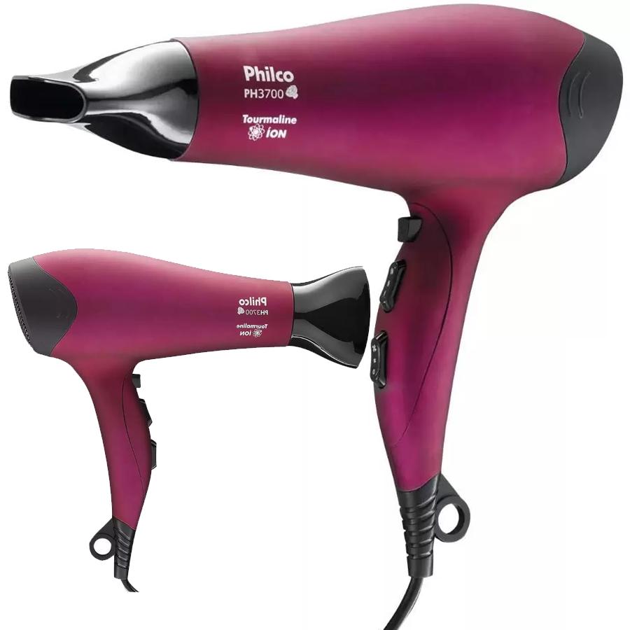 Secador de Cabelo Philco PH3700 Pink – Tourmaline Íon 2000W 2 Velocidades
