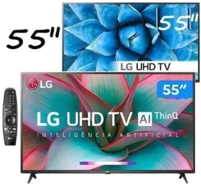 Smart TV 55″ LG 55UN731C 4K UHD 3 HDMI 2 USB Wi-Fi Assitente Virtual Bluetooth