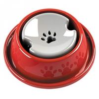 Bebedouro Pelos Longos Vermelho Médioio Pet Injet Para Cães