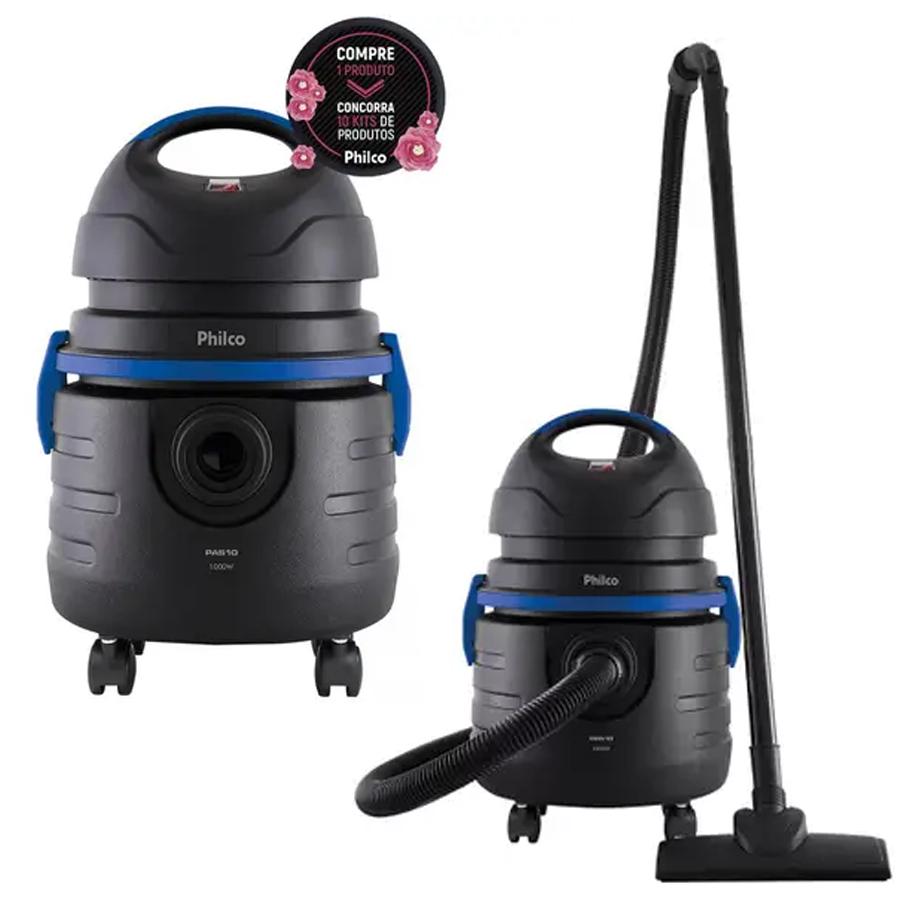 Aspirador de Pó e Água Philco 1000W Pas10 – Preto e Azul
