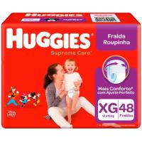 3 Pacotes Fralda Huggies Supreme Care Roupinha - Tam. XG 12 a 15kg 48 Unidades