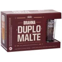 5 Packs Kit Cerveja Brahma Duplo Malte Lager 6 Unidades - 350ml com Copo