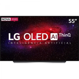 Smart TV LG OLED 55'' OLED55CX Ultra HD 4K WiFi Bluetooth HDR Inteligência Artificial ThinQAI Smart Magic Google Assistente Alexa