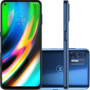 Smartphone Motorola G9 Plus 128GB 4G Wi -Fi Tela 6.8'' Dual Chip 4GB RAM Câmera Quádrupla + Selfie 16MP - Azul Índigo