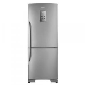 Geladeira / Refrigerador Panasonic Duplex NR -BB53PV3XA Frost Free Inverter 425L Aço Escovado