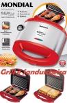 Sanduicheira Inox Premium 127V, Mondial – S-19