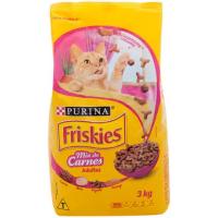 6 Unidades de Ração Premium para Gato Friskies Adulto - Mix de Carnes 3kg