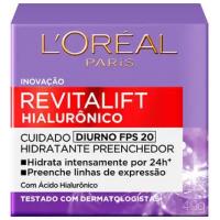 Creme Anti-idade L'Oréal Paris Revitalift Hialurônico Diurno FPS 20 - 49g