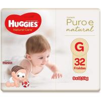 Fralda Huggies Natural Care G - 32 Fraldas
