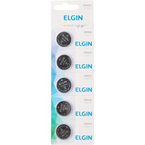2 Cartelas Bateria de Litio Cartela com 5 Unidades 3V Elgin - CR2025