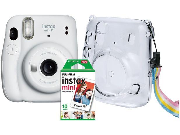 Instax Mini 11 Fujifilm Branco Flash Automático – com Acessórios