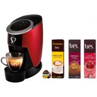 Cafeteira Espresso TRES Touch + Cápsula Cappuccino - Doce de Leite + Chá Hibisco e Maçã + Café Espresso