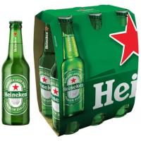 6 Packs Cerveja Heineken Puro Malte Lager Premium Long Neck 330ml - 36 Unidades