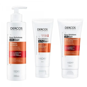 Vichy Dercos Kera Solutions Kit - Shampoo + Condicionador + Leave In