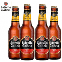Kit de Cervejas Estrella Galicia Sem Glúten - 330ml