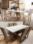 Mesa de Jantar 6 Cadeiras Retangular Rufato – Alvorada Londrina