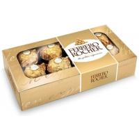 2 unidades Bombom Ferrero Rocher 8 Unidades 100g