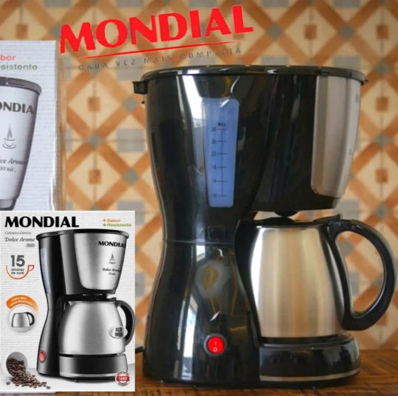 Cafeteira Elétrica Inox Mondial Dolce Arome – C-34 JI Preto