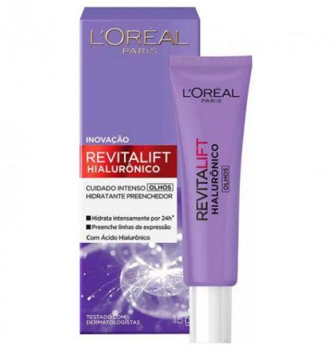 Creme Anti-idade para Olhos L'Oréal Paris – Revitalift Hialurônico