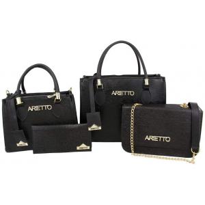 Conjunto com 4 Peças Bolsas Femininas e Carteira Lisa - Arietto