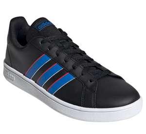 [APP] Tênis Adidas Grand Court Base Masculino - Preto + Azul