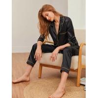 Pijama de Frio com Calça e Blusa de Manga Comprida com Botões e Bolso Frontal