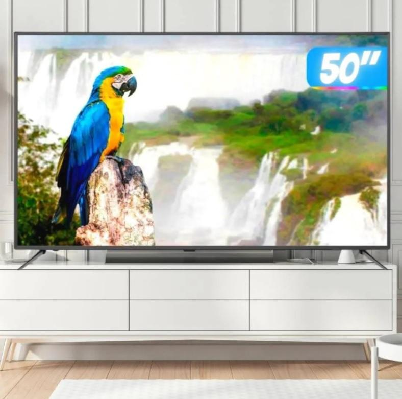 """Smart TV 4K HQLED 50"""" JVC LT-50MB708 Android – Wi-Fi Bluetooth HDR 4 HDMI 3 USB"""